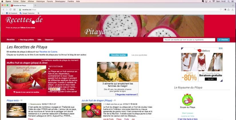 recette de pitaya