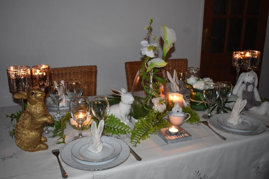 Pâques, une table jardin nature